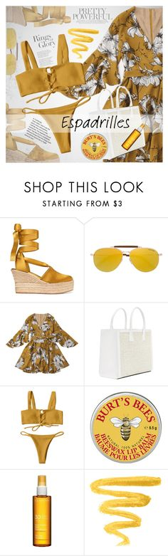 """""""Step into Summer: Espadrilles"""" by vanjazivadinovic ❤ liked on Polyvore featuring Tory Burch, Tiffany & Co., Tom Ford, Clarins, happyhour, polyvoreeditorial and zaful"""