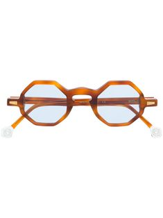 Kyme Gala 3 Shiny Gold Havana Red Brown Gradient Sunglasses