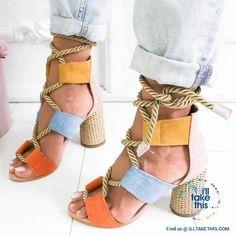 Compre 2019 Venda Quente Das Mulheres De Salto Grosso Sandálias Sapatos De Escritório Senhora Casual Sandálias De Fundo Grosso Verde Curto Saltos