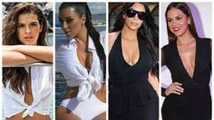 Biquíni e decotão: Marquezine e Kim usam looks parecidos