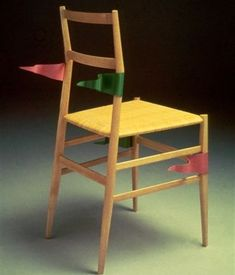 Alessandro Mendini Redesign di Sedie del Movimento Moderno: Sedia Superleggera di Gio Ponti, 1975