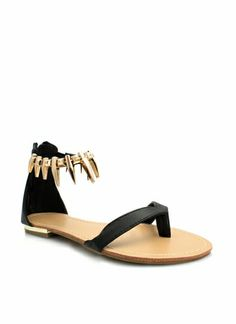 For a Marvel's Black Panther inspired look Perfectly Clawed Faux Leather Sandals