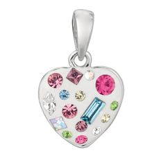 I love this little heart pendant. We have these at Jewelry Warehouse where I work! #love