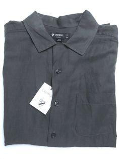 NEW Cremieux Sunwashed Silk/Linen Short Sleeve Shirt - M Faded Navy #Cremieux…