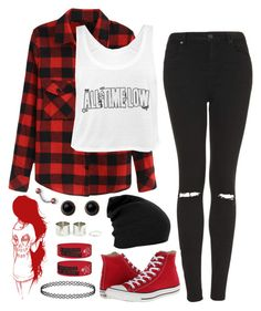"""""""Rainbow Tag: Red"""" by alex-bows ❤ liked on Polyvore"""