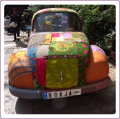 fabric covered car