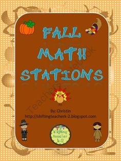 Fall Math Stations from Shifting Teacher K-2 on TeachersNotebook.com - - This is a group of 3 games that have a fall theme. Your students can practice tallies, number sense, place value and coins (pennies) with this product.