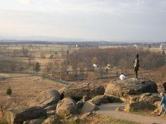 The Gettysburg Battlefield, US East Coast, United States