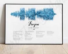 Sound Waves, Lyrics, Digital Art, Etsy Seller, Greeting Cards, Creative, Song Lyrics, Verses, Music Lyrics