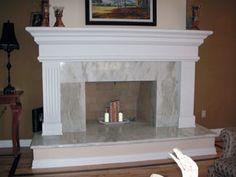 Tudor #644 - Do It Yourself Easy Installation - Cast Stone Mantel ...