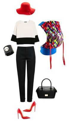ObiMama multi-color chevron mei tai, with some audrey hepburn style. maybe wedges instead of stilettos if toddler-wearing? love this hat!