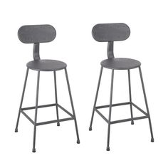This stool features a metal construction with a slim design that creates an industrial aesthetic. The scooped seat makes this stool not only attractive but comfortable.