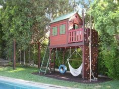 a wonderful house for children playing in the garden idea