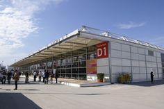 Mobile #Messehalle auf der #bauma in #München. So entstehen individuelle #Messestände mit großzügigen #Ausstellungsflächen