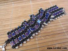 Czech SuperDuo  two-hole beads, Tila beads, Miyuki drops, Miyuki round seed beads 8/0, 11/0,15/0,  Toggle clasp