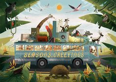 """Check out this @Behance project: """"Season's Greetings"""" https://www.behance.net/gallery/46591575/Seasons-Greetings"""