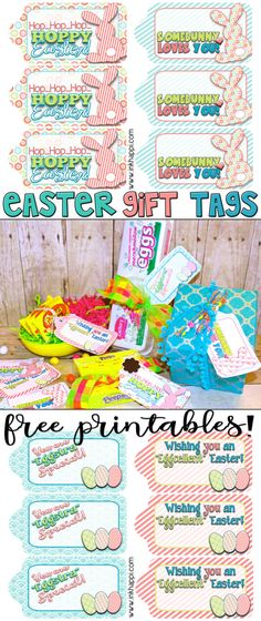 Printable easter gift tags and gift wrap from easter wraps and gift easter gift tags to help wrap it pretty negle Choice Image