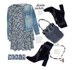 """Style a Denim Jacket for Fall"" by hattie4palmerstone ❤ liked on Polyvore featuring Alexander Wang, Current/Elliott, Alice & You, Chloé and denimjackets"