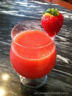 Simple Strawberry Coconut Smoothie | Oh Snap! Let's Eat!