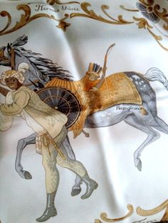 FleaingFrance Brocante Society Vintage Hermes Scarf - Cheval Turc Design