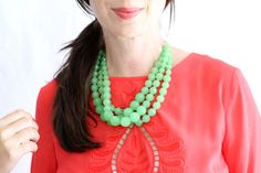 How To Make a Statement Necklace | Making it Lovely. like the mint but maybe aqua or red- mexicana style
