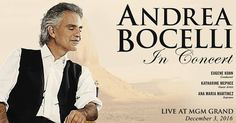 Andrea Bocelli revient au MGM Grand Garden Arena !