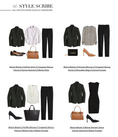 Capsule Wardrobe Work, Capsule Outfits, Fashion Capsule, 10 Piece Wardrobe, Travel Wardrobe, Wardrobe Basics, Formal Business Attire, Business Outfits, Winter Outfits For Work