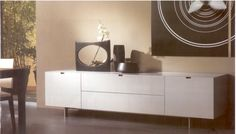 Interieur Hotspot | Advertentie | Italiaans Design Hoogglans Wit Dressoir