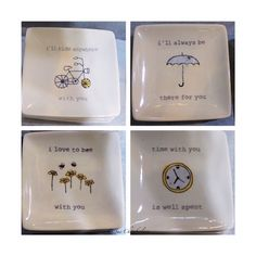 """itty bitty"" designer plates...for jewelry, notes, Easter baskets fill-in, surprise gift, hostess gift, at The Barn Nursery Boutique, Chattanooga Exit 181"