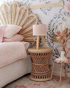 Girl Bedroom Designs, Rattan Furniture, Home Decor Bedroom, Bedroom Ideas, Beautiful Bedrooms, New Room, Girl Room, Room Inspiration, Interior Design