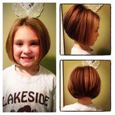 Adorable little girls bob Carrie miller-accent on hair
