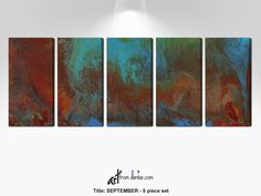 Large abstract 5 piece wall art canvas set Red blue brown green fall pictures for bedroom dining living room office conference room decor Dog spaces in house Dream house ideas Abstract Canvas Art, Canvas Wall Art, Red And Blue, Blue Brown, Fall Pictures, Small Art, New Art, The Help, Original Paintings