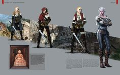 The Witcher 3: Wild Hunt artbook  Chapter V  Allies and Acquaintances [Part 1 / 2]