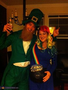 Pot o' Gold at the End of the Rainbow - Creative Maternity Halloween Costume