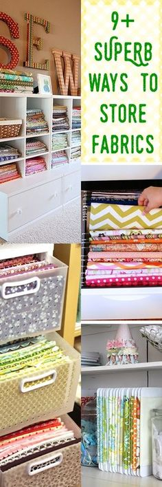 11+ WONDERFUL Fabric Storage Ideas For Sewing Rooms