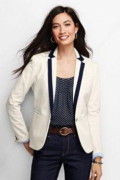 Women's Knit Pique Blazer from Lands' End