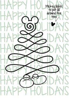 Mickey christmas tree Disney Christmas Decorations, Disney Christmas Shirts, Mickey Mouse Christmas, Mickey Y Minnie, Christmas Svg, All Things Christmas, Christmas Holidays, Xmas, Christmas Trees