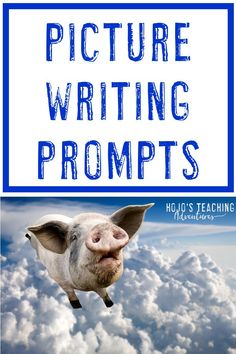 If you're looking for picture writing prompts for the elementary kids in your life, you're going to love this page! It has great ideas you can use right away to get students writing, as well as ready-to-go resources for your & grad Narrative Writing Prompts, Picture Writing Prompts, Writing Pictures, Writing Prompts For Kids, Writing Lessons, Teaching Writing, Writing Activities, Writing Ideas, Teaching Ideas