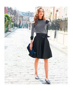Mademoiselle R Utställd kjol i Svart, Cerise - La Redoute 399kr