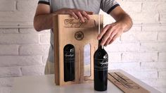 Personalized wine carrier that transforms into a wine rack