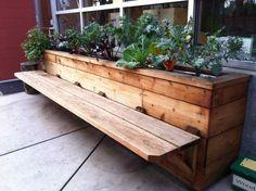buildergibbs - recent projects - classroom bench & planter box Outdoor Furniture, Outdoor Decor, Garden Shelves, Urban, Bench, Home Decor, Homemade Home Decor, Yard Furniture, Interior Design