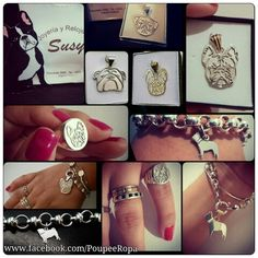Jewelry of Silver & Gold of French Bulldogs, English Bulldogs, Pugs -  Bulldog Francés, Bulldog Inglés