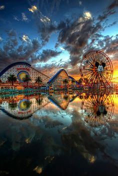 Disney's California Adventure at sunset
