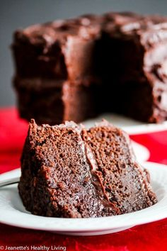 """Gluten-Free Chocolate Cake inspired by Hershey's """"Perfectly Chocolate"""" Chocolate Cake - super chocolatey and rich, no one will ever guess it's gluten-free"""
