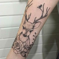 These feminist tattoos send a message and act as a reminder Arm Tattoos Skulls, Body Art Tattoos, Small Tattoos, Sleeve Tattoos, Tatoos, Antler Tattoos, Hand Tattoos, Doe Tattoo, Stag Tattoo