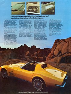 1971 Chevrolet Corvette Stingray Coupe, ohhh instant love, oh, and the ad is good too
