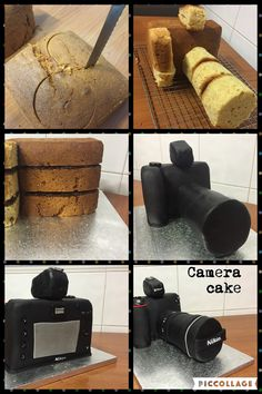 Fondant camera cake!! For a photoraphy lover