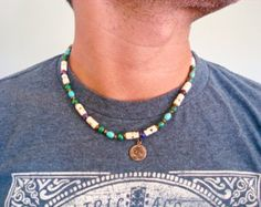 Men's Necklace with Semi Precious Stones Imperial by tocijewelry
