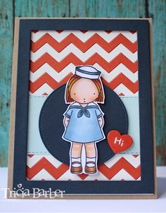 Diary of an Inky Girl…: My Favorite Things Wednesday Stamp Club - Sailor Girl