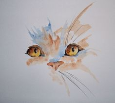 Drawing Portraits - Aquarelle - simple cat More - Discover The Secrets Of Drawing Realistic Pencil Portraits.Let Me Show You How You Too Can Draw Realistic Pencil Portraits With My Truly Step-by-Step Guide. Cat Drawing, Painting & Drawing, Gouache Painting, Drawing Faces, Guache, Watercolor Animals, Watercolor Bird, Beautiful Drawings, Beautiful Cats
